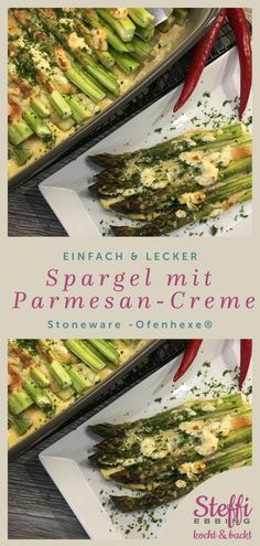 Grüner Spargel mit Parmesan-Creme - Eine tolle Beilage zu Fleisch und Fisch Best Picture For asparagus rice For Your Taste You are looking for something, and it is going to tell you exactly what you a Pampered Chef, Egg Recipes, Crockpot Recipes, Dinner Recipes, Grilling Recipes, Soup Recipes, Asparagus Recipes Oven, Vegetarian Recipes, Healthy Recipes