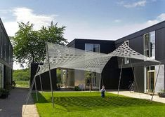 Brooklyn-based design company SMIT (Sustainable Minded Interactive Technology) is doing its part to take advantage of the summer sun to make the world a greener place. Their Tensile Solar product is much like a solar power fabric that provides both shade and planet-friendly electricity to those beneath it.