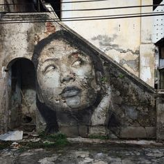 Rone New Murals In Penang, Malaysia  http://instagram.com/r_o_n_e