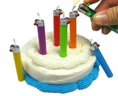These cute little Flikz Party Candles will light up any birthday cake! They're shaped like little disposable lighters and come in a pack of 6 in 6 fab colours - yellow, purple, blue, green, orange, red. They're a lot of fun and once lit look amazingly realistic. Flikz Party Candles make the perfect cake decoration for the smokers in your life and also to that person who is forever losing their lighter on a night out. And unlike most novelty candles,