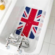 I definitley need one of these. Union Jack PVC Bath Mat -