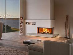 Modern Fireplace Design For Cozy Living Room Home Fireplace, Modern Fireplace, Living Room With Fireplace, Cozy Living Rooms, Fireplace Design, Home And Living, Living Spaces, Corner Fireplaces, Room Interior