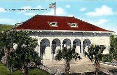 San Marcos Texas TX 1950s Post Office Collectible Antique Vintage Postcard
