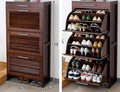Bedroom Storage Design Shoe Cabinet Ideas For 2019 Shoe Cabinet Design, Shoe Storage Design, Shoe Storage Cabinet, Rack Design, Storage Cabinets, Shoe Shelves, Space Saving Furniture, Home Decor Furniture, Diy Home Decor