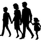 silhouette of parents with children, and 2 compound sentences about family sizes. Create A Family Tree, Friends Clipart, Family Tree Poster, Islam, Tree Clipart, Silhouette Clip Art, Silhouette Images, Religion, Clipart Black And White