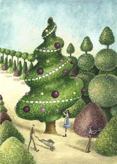 Nicola Rabbett - Spiral Christmas Topiary.jpg