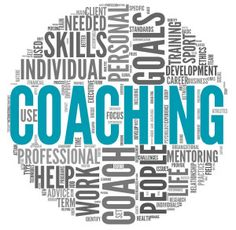 Coaching concept in tag cloud. Coaching concept related words in tag cloud isola ,