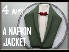 Napkin Folding: 4 ways How to Make a Jacket Napkin, My Crafts and DIY Projects