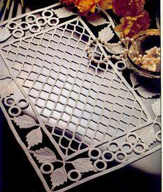 Diy Crafts - Great choice of schemes to crochet Filet Crochet, Crochet Diagram, Irish Crochet, Crochet Motif, Crochet Doilies, Crochet Stitches, Embroidery Stitches, Thread Crochet, Crochet Cushions