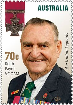 """This year's Legends Award recognises five Australians who have received the Victoria Cross, the highest honour that can be bestowed for acts of valour """"in the presence of the enemy"""". The 2015 Australia Post Legends Award recipients are Keith Payne VC OAM, Mark Donaldson VC, Ben Roberts-Smith VC MG, Daniel Keighran VC and, for the first time in the Awards history, Legends status will be awarded posthumously to Cameron Baird VC MG. Learn more: http://auspo.st/1CRY4LL #stampcollecting"""