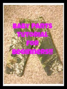 Great Baby Pants Tutorial!!!