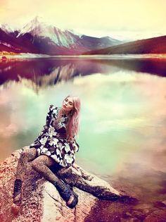 Elsa as Aelin. . EDITORIAIS DE MODA 2011-Elsa Hosk por Chris Nicholls para Flare Setembro 2011