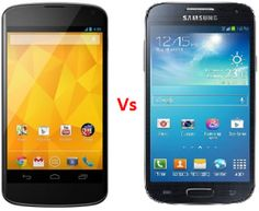 Google Nexus 4 Vs Samsung I9190 Galaxy S4 Mini