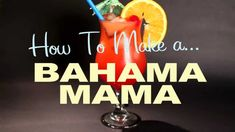 Hello everyone,  Have you ever heard about BOAT DRINKS? Here is a nice recipe of the BAHAMA MAMA to make on your boat!   How to Make a Bahama Mama