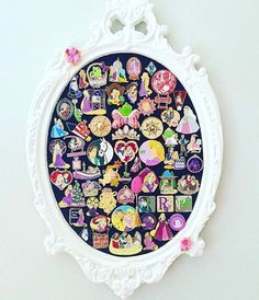Disney pin display, Disney Home decor Disney Diy, Casa Disney, Deco Disney, Disney Home Decor, Disney Dream, Disney Trips, Disney House, Disney Stuff, Disney At Home