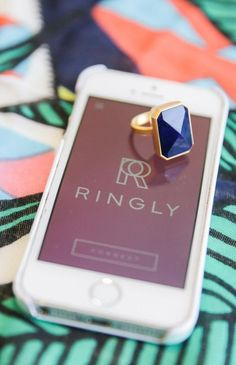 The Out to Sea smart ring from Ringly vibrates to send you notifications from eBay, Instagram, Uber, etc