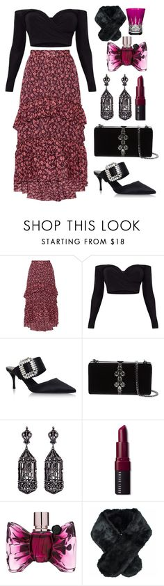 """Pre-christmas luncheon be like this!!"" by pulseofthematter ❤ liked on Polyvore featuring Ulla Johnson, Roger Vivier, Dsquared2, Amrapali, Bobbi Brown Cosmetics, Viktor & Rolf, Jeanne Simmons and Waterford"