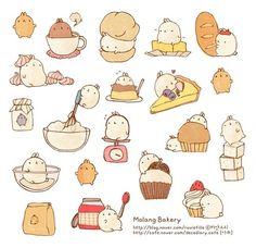 Molang Bakery Illustration Art.