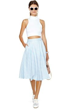 Set Sail Midi Skirt