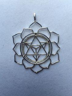 Sacred Geometry  Sterling Silver Merkaba in Lotus by WookNook13