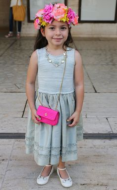 Angelina Cafiero from New York Fashion Week Spring 2015 Street Style  Little girl, major fashionista! We don't like to play favorites but Angelina is our pick for best street style.