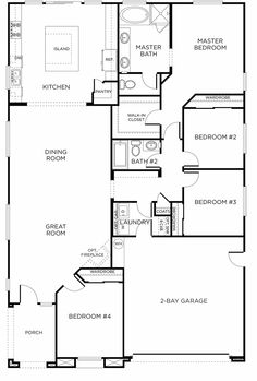 new single story plan fair oaks ranch plan 5a green home - Rectangle House Plans