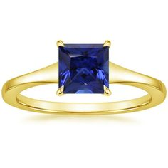 18K Yellow Gold Muse Ring, top view