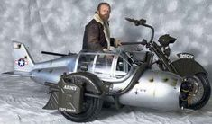 """Very imaginative, and well made. Apparently, this """"flying"""" sidecar, belonging to Henrik Tóth, is a """"slightly"""" transformed Yamaha Wild Star.   Not much is known about this one-off model, so if you know the story behind this motorcycle (named T-Motor Sidecar), leave a comment."""