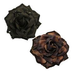 Flower Clips for Hair . . . #Webb_Direct_2U Girls Set of 2 Versatile Extra Large Sequin Rose Flower Clip Bows  Price: $9.99 for Set of Two  #Hair_Clips #Flower_Clips #Hair_Bows