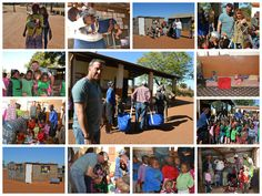 Some of the many pictures taken at the schools during the distribution of the meat, medications, toys, supplies and candy. Photos: Bob Newla...