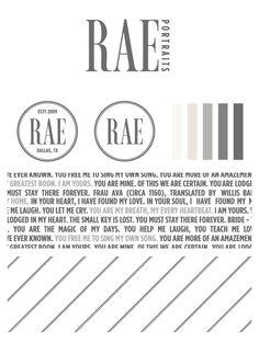 Rae Portraits Logo : Braizen Small Business Branding and Design