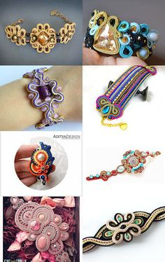 Stunning Soutache Bracelets - One of a Kind Pieces by Alexandra Richards on Etsy--Pinned with TreasuryPin.com