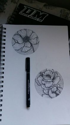 Best Tattoo Trends - Poppy and peony floral circle tattoo design...
