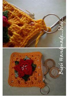 Handmade BIGU: Picot flower Purse ...