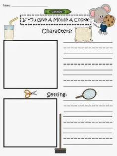 Printables If You Give A Mouse A Cookie Worksheets free if you give a mouse cookie by laura numeroff characters freebie story maps gift for a