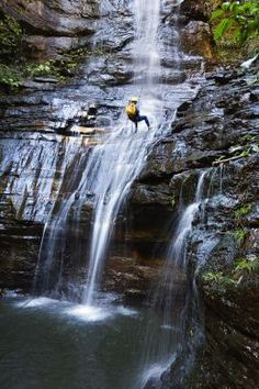 Canyoneering in Australia, these people are definitely thrill-seeking
