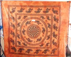 Turtle Round Mandala Tapestry  Product Id:: 0087 Size:: 150X220cm, 210X240 cm, Material:: 100% Cotton Design:: Printed Colors:: Any Custom Color
