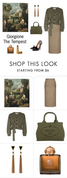 """Giorgione Inspired"" by scolab ❤ liked on Polyvore featuring N°21, Apiece Apart, Prada, Christian Louboutin, Charlotte Russe, AMOUAGE and Lipstick Queen"