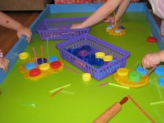 Play Dough - Bottles Tops and Straws
