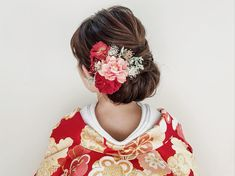 Japanese Hairstyle Traditional, Wedding Hair And Makeup, Hair Makeup, Up Styles, Hair Styles, Japanese Wedding, Hair Arrange, Wedding Images, Bridal Make Up