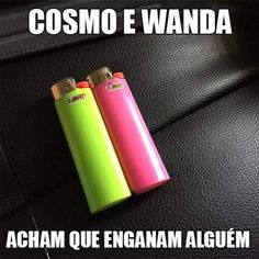 Comédia Brasil-Padrinhos Mágicos Sao Memes, Memes Humor, Funny Memes, Jokes, Cosmo E Wanda, Little Memes, Disney Animation, Good Thoughts, Funny Cute