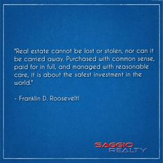 It is about the safest investment in the world ... #RealEstate #SaggioRealty #Brickell #Miami #Naples #ManhattanOfTheSouth #TeamSaggio