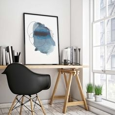 Comment to enter this contest and win this art print!  This modern abstract watercolor print comes unframed and will mak...