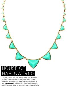 House of Harlow - 1960 Pyramid Station Necklace