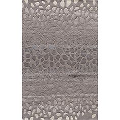 Hand-tufted Metropolitan Stones Silver Wool Rug (8' x 10') | Overstock.com Shopping - Great Deals on 7x9 - 10x14 Rugs