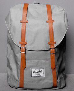 """Herschel Retreat Backpack in """"Grau"""" und """"Schwarz"""" bei Numelo"""