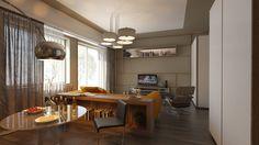 #Apartment #Interior #Design #Metal #Architecture #Orange #Living #Room #Space #Light #Contemporan #Bloomsbury