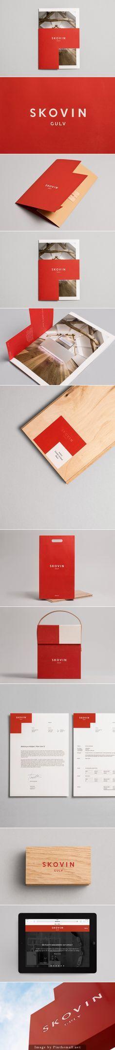 Skovin brand identity and collaterals designed by Heydays