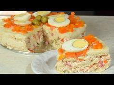 Pastel frío de atún, piña y surimi con pan de molde ¡Fácilisimo! - YouTube