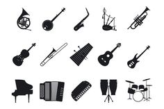 Musical instrument icons set   @creativework247